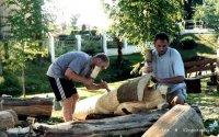 Plenerowa akcja rzeźbiarska w Biesowie