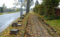 Nowe chodniki na ul. Kościuszki, Biskupiec