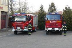 straż pożarna, biskupiec, samochód